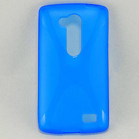 Чехол TPU X формы для LG L Fino Dual D295 + защитная плёнка