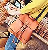 Рюкзак женский сумка трансформер Daily Woman Коричневый, фото 4