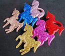 Детские резинки для волос Единорожки голограмма 12 шт/уп, фото 2