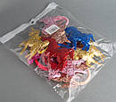 Детские резинки для волос Единорожки голограмма 12 шт/уп, фото 4