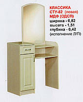 Трюмо СТУ-82 Классика ДСП   1510х820х420мм  Абсолют, фото 3