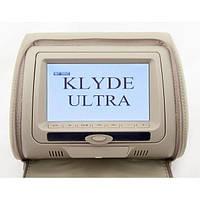 Подголовник с монитором и DVD-проигрывателем KLYDE Ultra 747 HD Beige (бежевый) (код 540034)