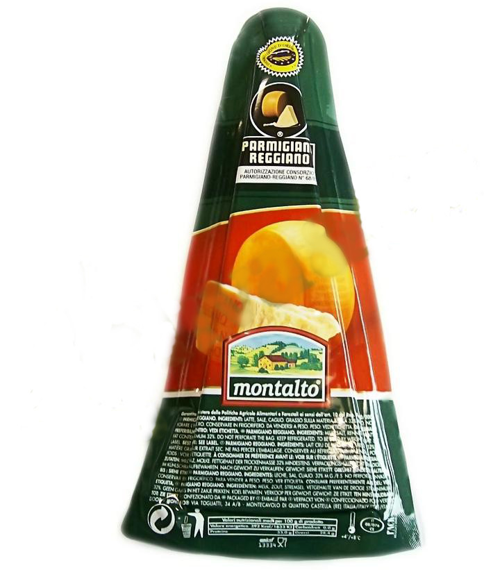 Сыр итальянский Parmigiano Reggiano Montalto Mezzano (Пармезан) 14 мес. выдержки, 250 г.