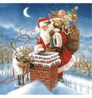 "Салфетки для декупажа ""Санта с мешком"""