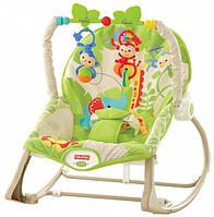 Массажное кресло-качалка Веселые обезьянки до 18 кг Fisher-Price