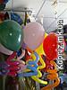 Гелиевые шары с  завитушками Qualatex( время полета -до 17 суток)