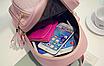 Рюкзак женский кожзам Crocodile print с кисточкой Розовый, фото 7