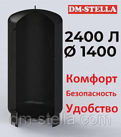 Буферная емкость (теплоаккумулятор) 2400 литров, Ø 1400 мм, сталь 3 мм