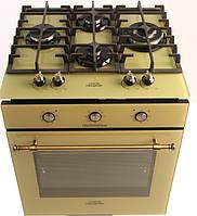 Бежевый комплект техники в RETRO стиле с самыми современными функциями. Бежевая газовая плита и беж духовка эл, фото 1