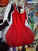Купальник гимнастический полупачка с фатиновой юбкой Купальник для танцев Купальник