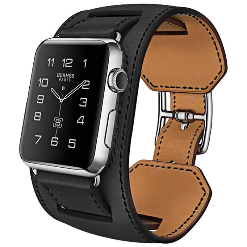 Ремешок для iWatch Baseus Hermes Fashion Leather Band Black 42mm