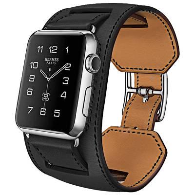 Ремешок, Baseus, Hermes Fashion Leather Band Black, для iWatch 44mm BS-9912