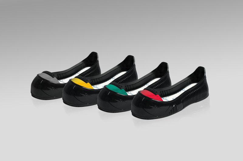Антискользящая накладка на обувь с защитным ударосткойким подноском и антипрокольной кевларной стелькой