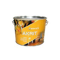 Глубокоматовая краска Akrit 4 Eskaro 9,5 л – для стен и потолка