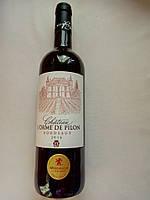 Красное столовое вино Château l'Orme de Pilon Bordeaux AOP