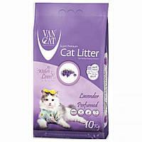 VanCat (ВанКэт) Lavender наполнитель для туалета бентонитовый, 10 кг.