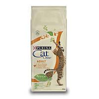 Cat Chow Adult сухой корм для кошек, с курицей и индейкой 15 кг