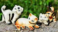 Коллекционный набор,3 шт! Скульптура,миниатюра,Кот,котик! Germany!