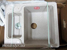 Гранитная кухонная мойка Teka Luna 60 S-TG piaskowy beż