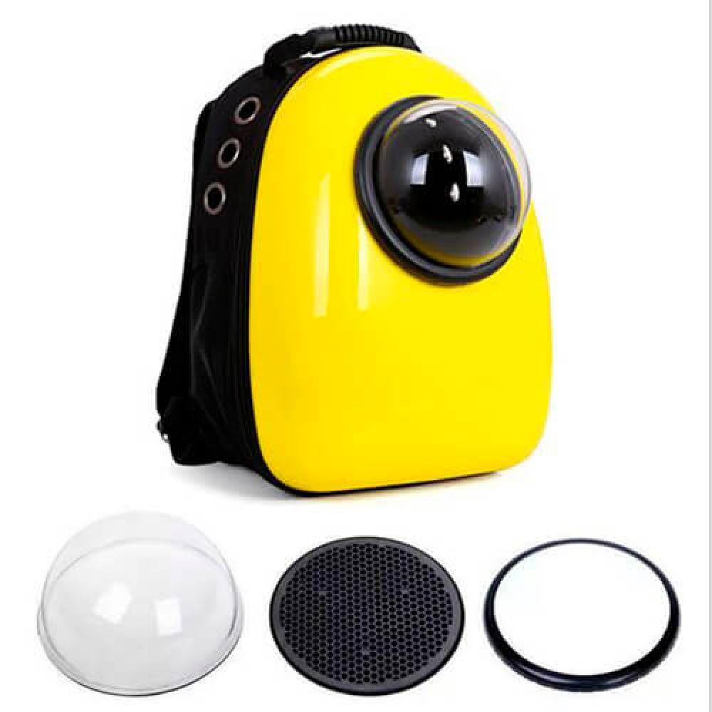 Рюкзак-переноска для животных AnimAll SpacePet, желтый
