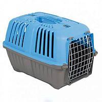 MPS (МПС) Pratico 2 контейнер для транспортировки животных с металлической дверцей, голубой.