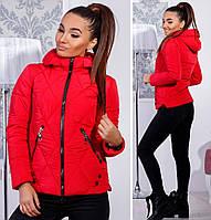 Тёплая женская куртка с капюшоном синтепон 200