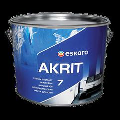 Моющаяся краска для стен и потолка Eskaro Akrit 7 TR 9л (транспарентная)