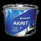 Моющаяся краска для стен и потолка Eskaro Akrit 7 9.5л (Эскаро Акрит 7), фото 2