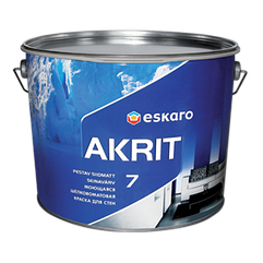 Моющаяся краска для стен и потолка Eskaro Akrit 7 9.5л (Эскаро Акрит 7)