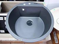 Гранитная кухонная мойка Pyramis Alazia Ø 51 (Греция) iron grey, фото 1