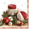 """Салфетки для декупажа """"Красно-белые новогодние шары"""""""
