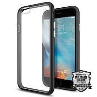 Чехол Spigen для iPhone 6S / 6 Ultra Hybrid, Black (SGP11600), фото 1