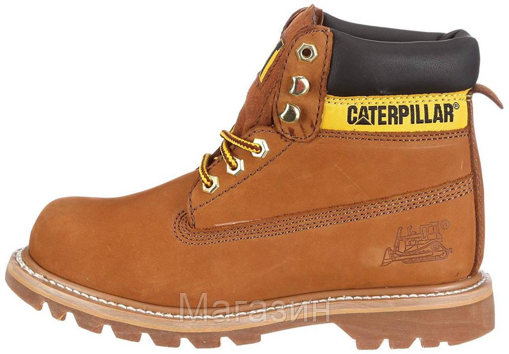 Женские зимние ботинки Caterpillar Colorado Winter Yellow Катерпиллер Колорадо песочные с мехом