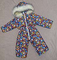 Детский зимний комбинезон на овчине унисекс цельный, фото 1