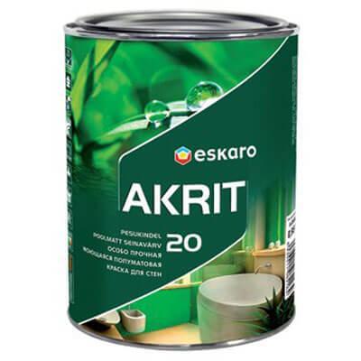 Особопрочная краска Eskaro Akrit 20 2,85л (полуматовая)