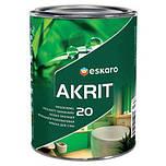 Особопрочная краска для стен и потолка в ванных и кухнях Akrit 20 Eskaro 2,85л (полуматовая)