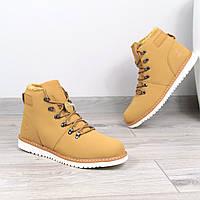 Ботинки Мужские зимние Timberland рыжие мех, зимняя обувь