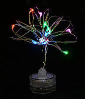 """Электрогирлянда LED """"Для бутылки"""", 15 ламп, многоцветная, 1,60 м"""
