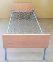 Кровать металлическая одноярусная с ДСП спинкой 190х70