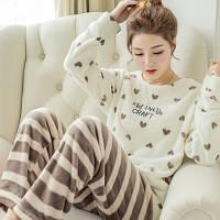 Тёплая флисовая пижама Сердечки