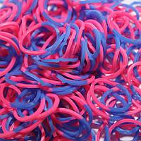 Резиночки для плетения браслетов rainbow loom bands - двухцветные - розово-синие