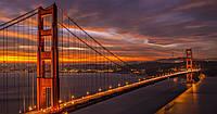 Печать холсте 300x400 мм мост Сан-Франциско