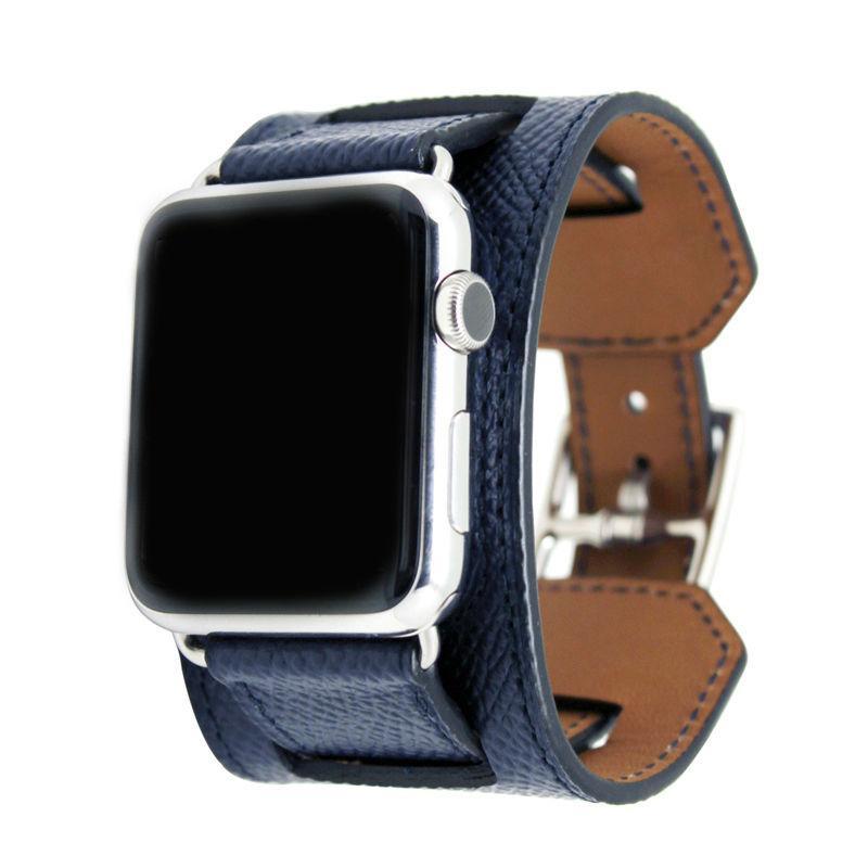 Ремешок Baseus Hermes Fashion Leather Band для iWatch 42mm Blue