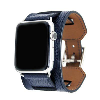 Ремешок, Baseus, Hermes Fashion Leather Band для iWatch 44mm, Blue BS-9910