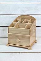 Органайзер-шкатулка для косметики натуральный