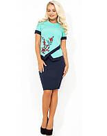 Модный костюм двойка блуза и юбка КТ-324, фото 1