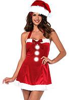 Игровой костюм Санта Клауса женский Р-437, фото 1