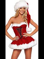 Красивый костюм Санта Клауса женский Р-433