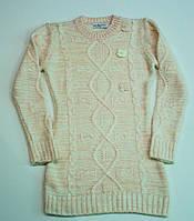 Вязаный свитер-туника для девочки  9-13 лет , фото 1