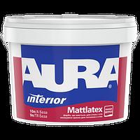 Латексная краска для стен и потолка Aura Mattlatex 10л (моющаяся)